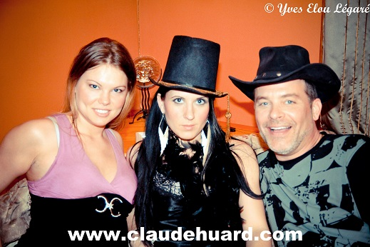 Christine Lachance, Patricia Rheault and Pierre Sicard while filming Lynda, the Loose Girl...