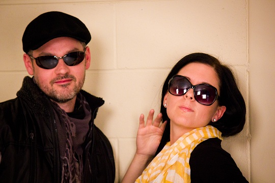 Eric Baril and Patricia Rheault playing snob actors...