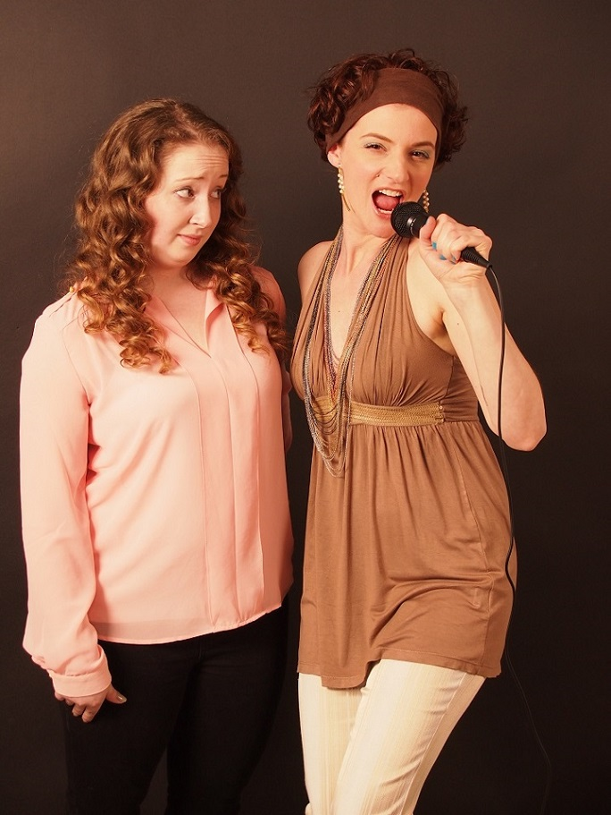 Kristin Delcellier and Natasha Jette while filming Cheap and Ugly Arts...
