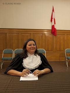 Martine Berthiaume in the role of the prosecutor!